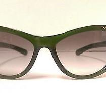 Authentic Chanel 6039 Green Cat Eye Sunglasses W. Silver Accents  Photo