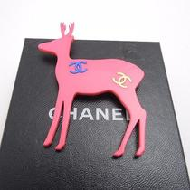 Authentic Chanel  Animal Brooch Reindeer Pink Brooch Photo