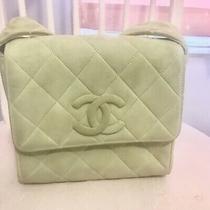Authentic Chanel Bag Pastel Green Chanel Handbag Suede Vintage Chanel Camera Bag Photo