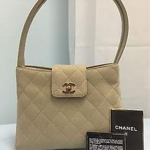 Authentic Chanel Beige Handbag  Photo