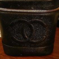 Authentic Chanel Black Caviar Leather Black Bag Photo