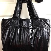 Authentic Chanel Black Coco Cocoon Nylon Puffer Puffy Tote Purse Handbag  Photo