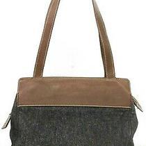 Authentic Chanel Black Denim Cc Logo Coco Mark Shoulder Tote Bag A14620 Italy Photo