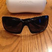 Authentic Chanel Black Mother of Pearl Sunglasses 5076-H 501/87 Photo