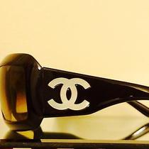 Authentic Chanel Black Mother of Pearl Sunglasses 5076-H C.501/18 Photo