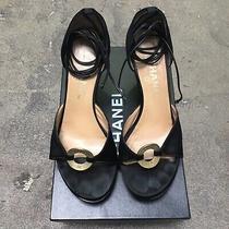 Authentic Chanel Black Platforms/heels Size 37 Photo