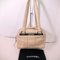 Authentic Chanel Blush Color Quilted Leather Satchel  Photo
