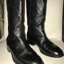Authentic Chanel Boots Black Leather 36.5/6.5 Photo
