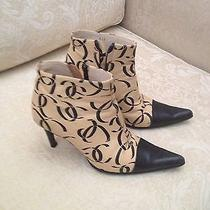 Authentic Chanel Boots  Size 6 1/5 Like New Photo
