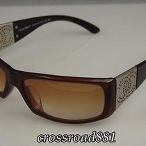 Authentic Chanel Brown Gradation Lens and Silver Cc Sunglasses Great Photo