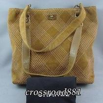 Authentic Chanel Brown Suede Tote Bag Very Good Condition Photo