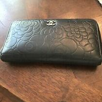 Authentic Chanel Camilla Zip  Wallet Black Lambskin Photo