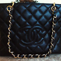 Authentic Chanel Caviar Leather Petite Timeless Tote W/ghw Mint Condition Photo