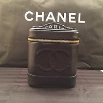 Authentic Chanel Caviar Skin Leather Vanity Black A01998  ( New With Tag)  Photo