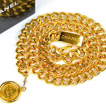 Authentic Chanel Cc Goldtone Medallions 35
