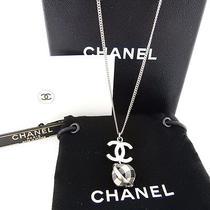 Authentic Chanel Cc Logo Necklace Pendant B11 C With Box Photo