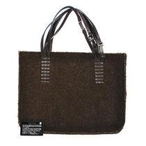 Authentic Chanel Cc Logos Hand Tote Bag Brown Mouton Fur Vintage France Lp12252 Photo