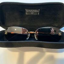 Authentic Chanel Cc Sunglasses Italy 4013c 125/59 59/16 130 Brown Vintage Case Photo