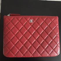 Authentic Chanel Clutch Red Photo