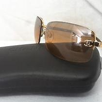Authentic Chanel Coco Brown/gold Metal Frame Sunglasses 347 Photo