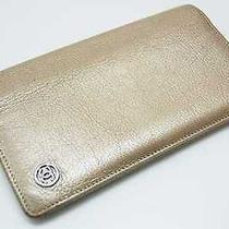 Authentic Chanel Coco Button Bifold Long Wallet Champagne Gold  Photo