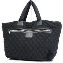 Authentic Chanel Coco Cocoon Large Tote Bag Black  Photo