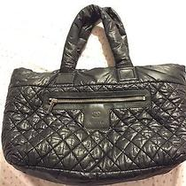 Authentic Chanel Coco Cocoon Tote Bag Black Photo