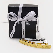 Authentic Chanel Coco Gold Tone Barrette Photo