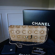 Authentic Chanel Coco Logo Camel Color Pony Hair Classic Handbag Clutch Purse Photo