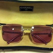 Authentic Chanel Coco Logo  No Frame Sunglasses Violet 4017  Photo
