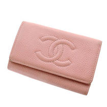 Authentic Chanel  Coco Mark Key Case Caviar Skin Photo