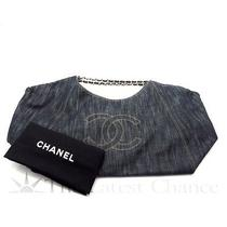 Authentic Chanel Denim Coco Cabas Tote Bag Gm in Excellent Condition Photo