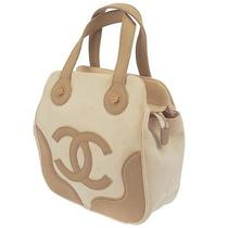 Authentic Chanel Jumbo Xl Cc Hand Tote Bag Beige Canvas Vintage Italy 1761-0b Photo