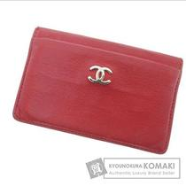 Authentic Chanel Leather  Card Case   Coco Mark Photo