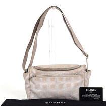 Authentic Chanel Leather New Travel Beige Vanity Bag Shoulder Bag Photo