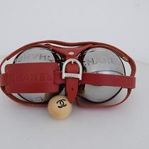 Authentic Chanel Leather Petanque Ball Set Other Rare Goods Red Photo