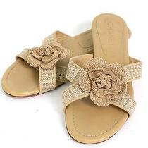 Authentic Chanel Leather Sandals Camellia From Japan Photo