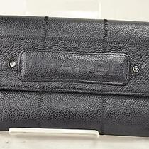Authentic Chanel Long Wallet  Black 71040 Photo