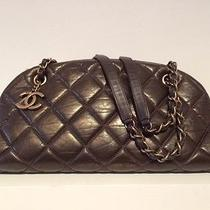 Authentic Chanel Mademoiselle Sac Bowling Brown Bag/purse Photo