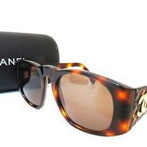 Authentic Chanel Matelasse Coco Sunglass Brown 01450 91235 Est3586 Photo