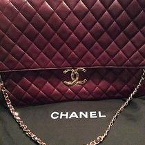 Authentic Chanel Maxi Bag Xl Rare  Stunning Wine Colour  Photo