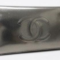 Authentic Chanel Metallic Leather Bifold Long Wallet Metallic Gold  Photo