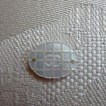 Authentic Chanel Mother-of-Pearl  Replacement Ornament Cc Logo Button for Jacket Photo