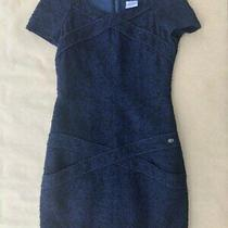 Authentic Chanel Navy Tweed Dress. Size 36fr Photo
