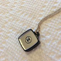 Authentic Chanel Necklace Cc Logo Colored Crystal Pendant Nwot Photo