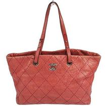 Authentic Chanel Quilted Cc Shoulder Tote Bag Pink Leather Vintage Italy Nr01267 Photo