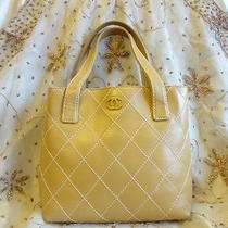 Authentic Chanel Quilted Lambskin Leather Gst Tote Handbag Bag Purse T155 Photo