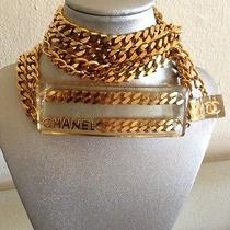 Authentic Chanel Rare '97p Gold Plated Chain & Lucite Belt / Necklace Photo