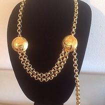 Authentic Chanel Rare Season 29 Gold Plated Cc Belt / Necklace  Photo