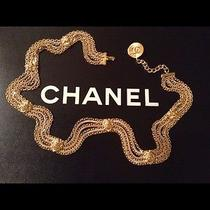 Authentic Chanel Rare Stamped Vintage Gold Plated Lion Belt  Photo
